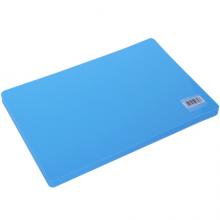 得力(deli)20片靓丽实色复写板/书写垫板(298*198mm) 蓝色