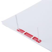 得力(deli)80mm耐弯折塑胶装订夹 可重复使用  50套/盒