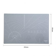 得力(deli)A3耐用PVC切割垫板桌垫 灰色78401