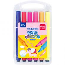 得力(deli)7062 绚丽多彩12色水彩笔绘画笔 盒装