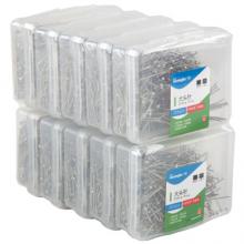广博(GuangBo)10盒装24mm塑料盒装大头针(50g/盒)办公用品