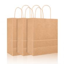广博(GuangBo)10只装牛皮纸包装袋礼品袋纸质手提袋礼物袋
