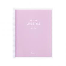 广博(GuangBo)A5活页笔记本子 小清新记事本 升级款40张紫