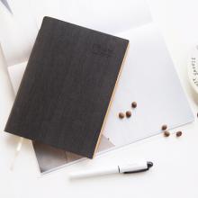 广博(GuangBo)25K132张商务皮面记事本子/日记本插笔设计 多彩黑色