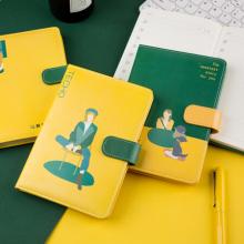 广博(GuangBo)B6笔记本子皮面手账本文具记事本 112张单本颜色随机午后故事