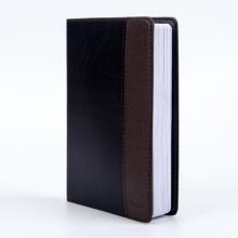 广博(GuangBo)16K拼皮商务皮面 办公笔记本子 记事本日记本 120张棕黑