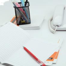 广博(GuangBo)20本装大32K26张办公记事本子软抄本笔记本子学生日记本 颜色混装