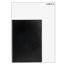 广博(GuangBo)A5笔记本子皮面本商务办公会议本记事本 96张悦彩黑色