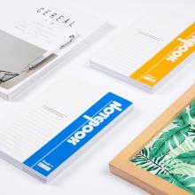 广博(GuangBo)A5笔记本子办公记事本学生日记本软抄本 40张10本装颜色随机