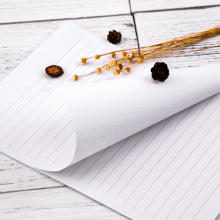 广博(GuangBo) 草稿本 文稿纸 单线信纸本子 16K30张 3本装