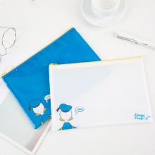 广博(GuangBo)2只装A5防潮网格拉链文件袋资料袋 迪士尼唐老鸭系列
