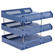 广博(GuangBo)加厚三层文件盘/资料架/文件架/办公用品 颜色随机 单个装