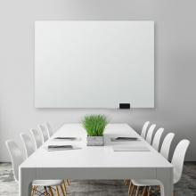 广博 (GuangBo) 120*90cm磁性钢化玻璃白板 抗划书写顺畅教学会议写字板