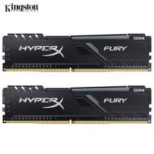 金士顿(Kingston) DDR4 2666 16GB(8G×2)套装 台式机内存条 骇客神条 Fury雷电系列