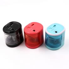 益而高(EaGLE)电动双孔削笔器  电动卷笔刀铅笔刀素描用简约四色随机发货 EG-5161
