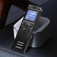 联想(Lenovo) 录音笔专业高清智能降噪学习采访商务会议小随身便携式转文字专业级录音器B688 黑色 32G