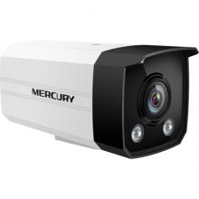 MERCURY 水星 摄像头H.265+室外筒型枪机PoE暖光全彩高清监控设备摄像机 200万暖光全彩镜头-6mm焦距