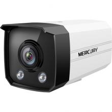MERCURY 水星 摄像头H.265+室外筒型枪机PoE暖光全彩高清监控设备摄像机 200万暖光全彩镜头-4mm焦距