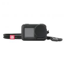 PGYTECH OSMO ACTION硅胶套运动相机配件用于大疆镜头保护罩机身保护壳手绳可调 黑色
