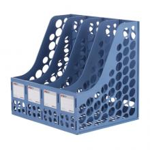 晨光(M&G)文具蓝色四联办公文件框 加厚文件架文件筐 资料整理收纳文件栏 单个装ADM94740