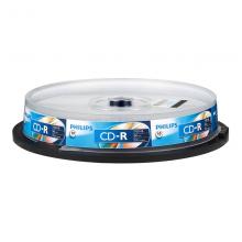飞利浦(PHILIPS)CD-R光盘/刻录盘 52速700M 桶装10片