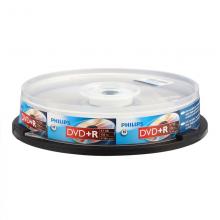 飞利浦(PHILIPS)DVD+R光盘/刻录盘 16速4.7G 桶装10片 空白光盘