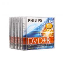飞利浦 (PHILIPS)  DVD+R  光盘/刻录盘 单片盒装10片/包 16速4.7G 空白光碟