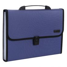 晨光(M&G)文具A4/12格蓝色文件包 办公手提资料包风琴包 学生试卷分类收纳包 单个装AWT90959