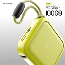 MIPOW无线充电宝10000毫安无线充电器QI认证iPhone11 pro max苹果华为移动电源 荧光色
