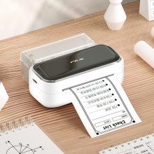 印先森M03小海囤错题打印机宽幅高清学生试卷错题整理神器改错免抄手机小型家用迷你打印机照片便携式口袋 M03白色小海囤