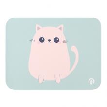 镭拓(Rantopad)S1 皮革防水鼠标垫小号 可爱 桌垫笔记本电脑办公垫 小猫
