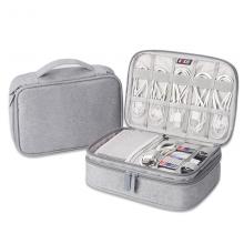 BUBM 数据线收纳包电源盒子多功能充电线旅行便携数码配件整理袋 双层DPSS-MYB