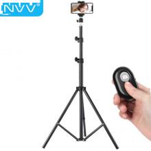 NVV 手机直播支架 手机三脚架1.9米加高便携蓝牙拍照短视频主播抖音神器网课桌面俯拍户外落地三角架NS-8