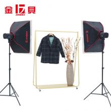 金贝(JINBEI)250W摄影灯影室灯闪光灯柔光箱补光灯摄影棚套装电商服装证件照人像拍照灯柔光灯双灯套装A