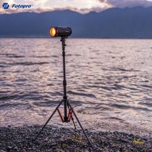 富图宝(Fotopro)TR-01C 便携反折碳纤维三脚架摄影棚支架拍照LED主播灯架影室灯三脚架