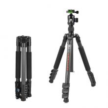 思锐(SIRUI)三脚架 ET2204+K20X 碳纤维含云台佳能尼康单反相机三角架 扳扣反折单反相机三脚架 稳定便携