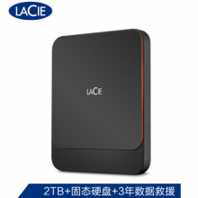 LaCie 2TB Type-C/USB3.1 移动固态硬盘(PSSD)Portable SSD 高速便携 小巧美观