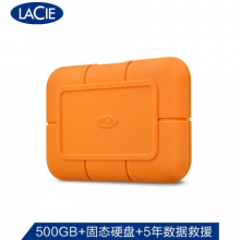 LaCie 500GB Type-C/USB3.1 Gen2 移动固态硬盘(PSSD) Rugged SSD 高速读写 便携三防 希捷高端品牌