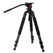 miliboo米泊铁塔MTT701B摄像机三脚架 碳纤维专业摄影大三角架 带液压云台