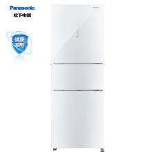 松下(Panasonic)280升变频家用三门小冰箱 风冷抗菌除味 自动制冰-3℃微冻 白色玻璃面板NR-EC28AGA-W