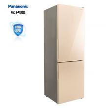 松下(Panasonic)322升风冷无霜两门 金色玻璃门 银离子功能 速冷速冻 冷藏室独立断电 NR-EB32G1-N