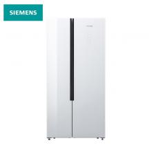西门子(SIEMENS) 530升 变频风冷无霜冰箱双开门对开门 玻璃面板 超薄大容量 简约设计(白色) KX52NS20TI