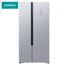 西门子(SIEMENS) 500升 变频风冷无霜对开门冰箱 超薄 旋转制冰(银色)  BCD-500W(KX50NA41TI)