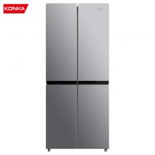 康佳(KONKA)307升 十字对开门冰箱 风冷无霜 四对开门家用电冰箱 冷藏三层玻璃搁架BCD-307WEGY4S