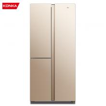 康佳(KONKA)370升薄壁对开门电冰箱 T型 风冷无霜 电脑温控宽幅变温节能保鲜四代循环风 家用BCD-370WEGX6S