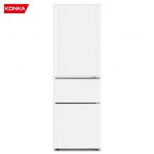 康佳(KONKA)210升 三门冰箱 家用租房 小型 电冰箱 节能保鲜 三门三温 静音省电 (白色)BCD-210GB3S