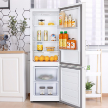 TCL 163升双门电冰箱 38分贝静音 121升大冷藏  环保材质 快速制冷小冰箱(芭蕾白)R163L1-BZ
