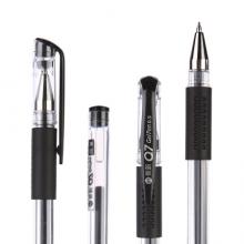 晨光(M&G)文具Q7/0.5mm黑色中性笔 美新系列经典拔盖签字笔 子弹头水笔 12支/盒XGP30117