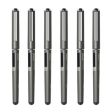 晨光(M&G)文具0.5mm黑色中性笔 直液式速干走珠笔 S02子弹头签字笔水笔 6支/盒ARP50107