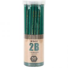 晨光(M&G)文具经典绿杆2B铅笔 学生考试木杆铅笔 绘图书写铅笔 50支/桶AWP35797